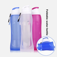 Fitness Silicon Plastic Collapsible Foldable Sport Water Bottle