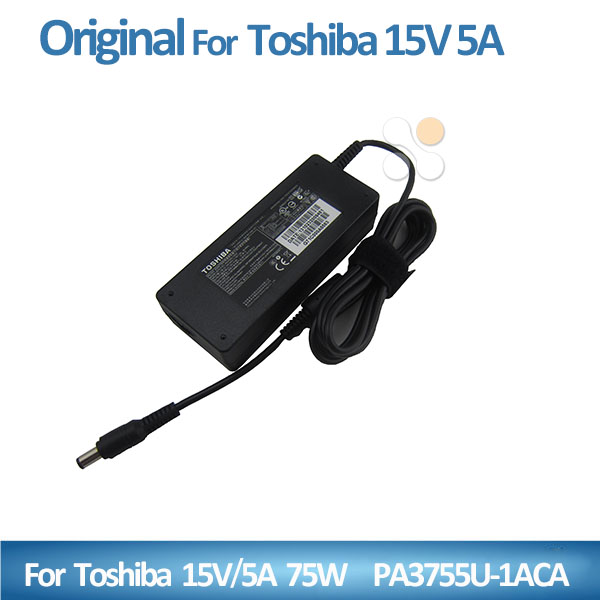 Original 15V 5A 75W laptop AC power adapter charger for Toshiba Portege 3500 3505 A100 A200 M400 M405 M700 M750 M780 R300