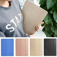 ROCK Three Folding Leather with PC hard case cover for apple ipad pro 12.9 , for i pad pro case