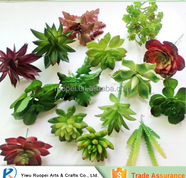 pvc Mini single Artificial succulent plant with different styles