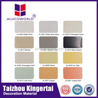 Alucoworld different thickness excellent decorative metal fiberglass wall cladding aluminum plastic composite panel for walls