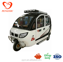 enclosed electric motor scooter, mini electric car, 3 wheel car for sale