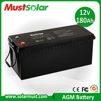 Competitive Price 12V 180Ah Rechargeable Battery for Solar Storage