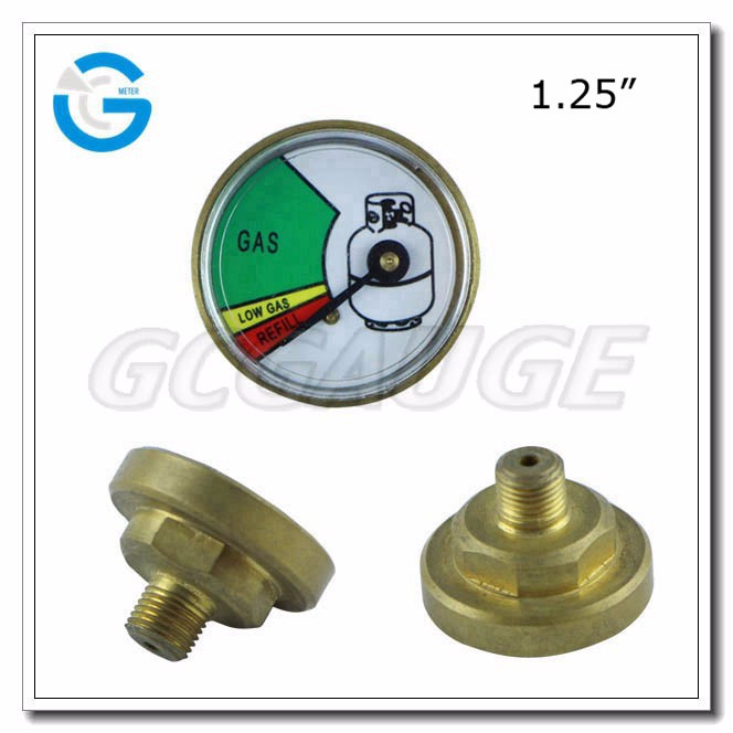 High quality 1.25 inch 35 mm lpg gas pressure gauge meter for propane tanks