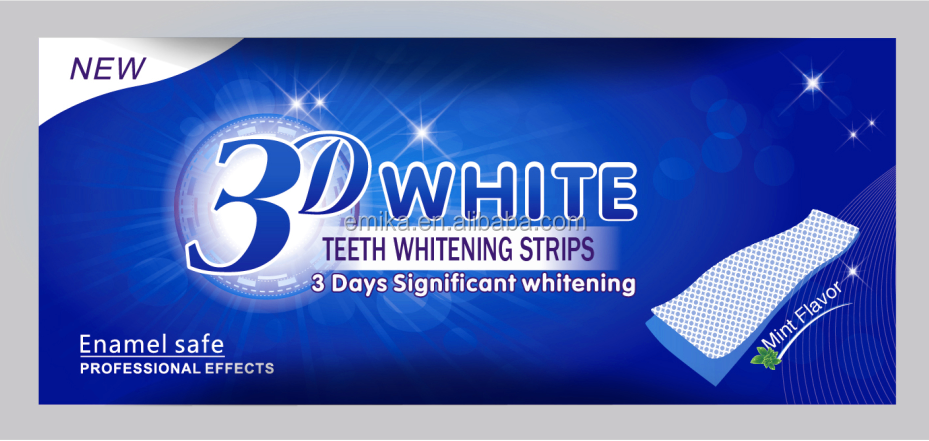 CE & OEM Approved 6% hydrogen peroxide Teeth Whitening Strips, Good effect as Crest 3d whitestrips