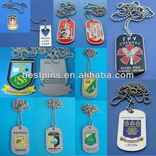 customised dog tags necklace metal enamel