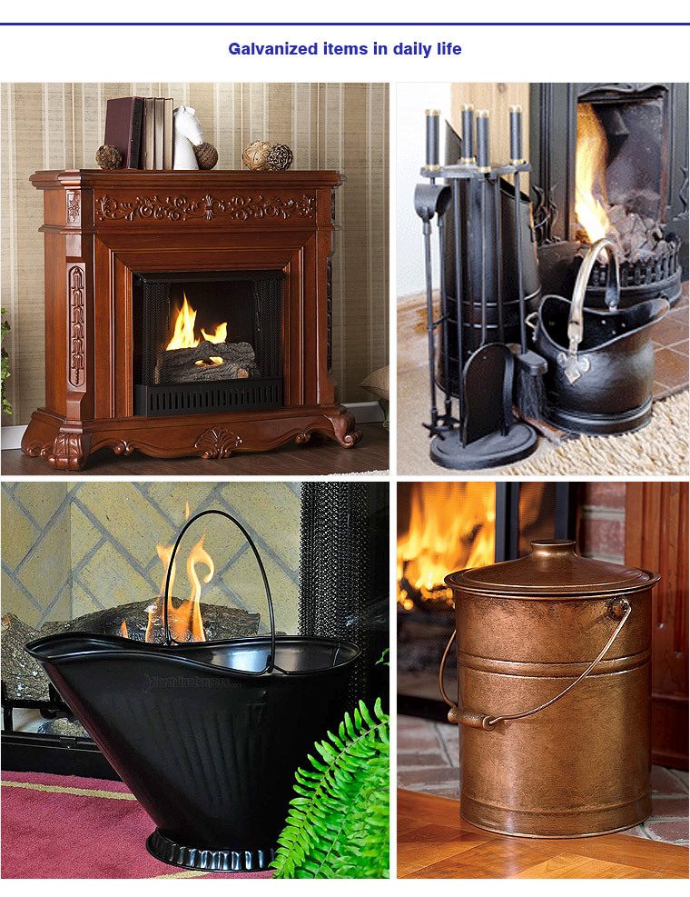 Powder Black Iron Coal Hod Scuttle Bucket