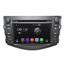 factory customize android 4.4 quad core RK3188 ROM 16G 2 din dvd car audio navigation system for Toyota RAV4