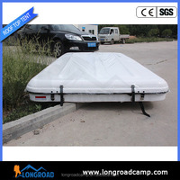 Outdoor car Hard shell roof top tent with top pop-up 4wd camper hard floor foldable camper trailer tent for sale