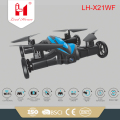 LH-X21WF 2 IN 1 flying and running rc car drone wifi control quadcopter with hd camera and altitude hold mode