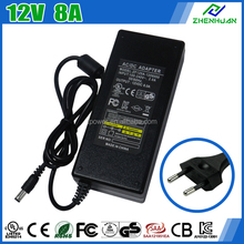 AC 230V 50Hz Input Adapter 12V 8A LED Power Supply For LCD Monitor