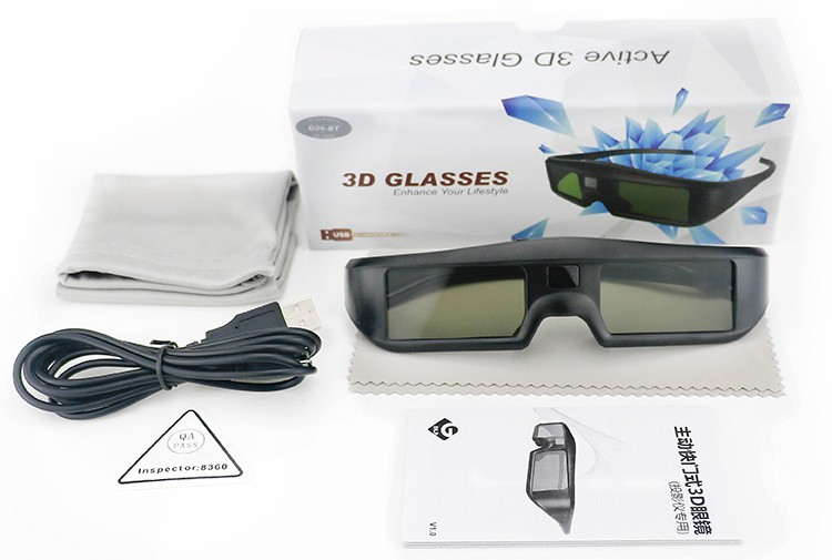 2017 hot cheap Rechargeable Active 3D Glasses for bluetooth 3d tv