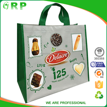 Durable pp laminated non woven folding expandable shopping bag