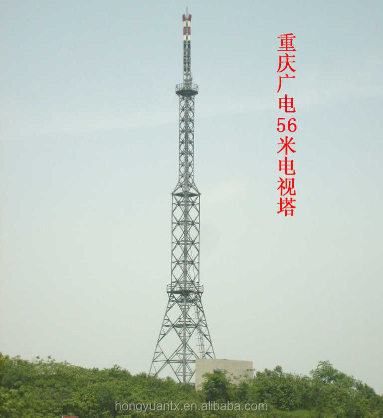 radio and television microwave communication single pipe steel tower