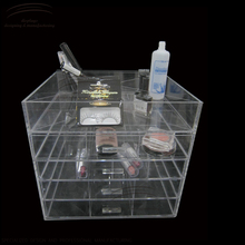 Weitu makeup organizer box for storage acrylic box makeup manufacture wholesale cheap acrylic makeup organizer with drawers