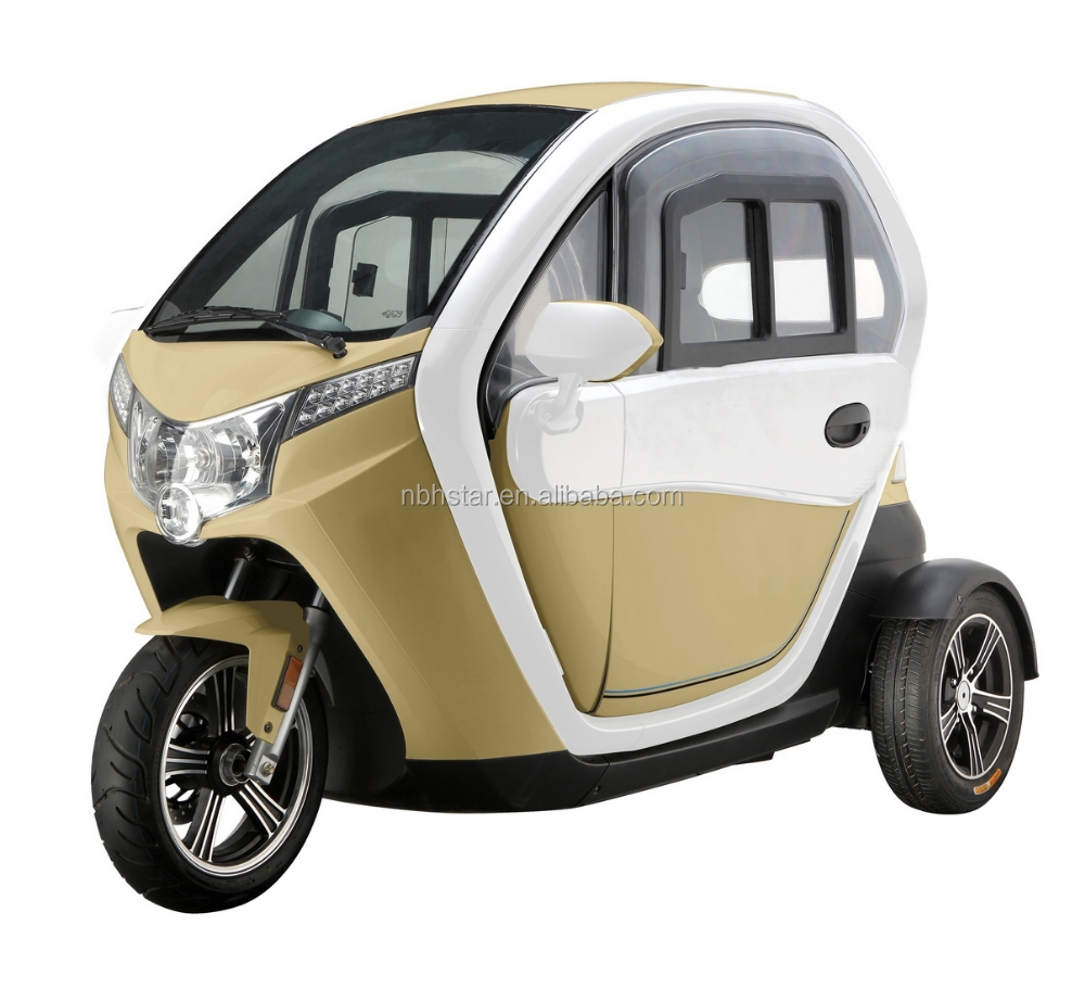2015 High quality close body type tricycle electric for passenger mini car