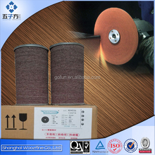 Abrasive fiber disc for different polishing applications