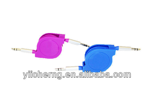 Consumer Electronics Metallic Stereo audio cable for Nokia LG Berry / HTC One X /Amazon Kindle / Sony Xperia Galaxy Round