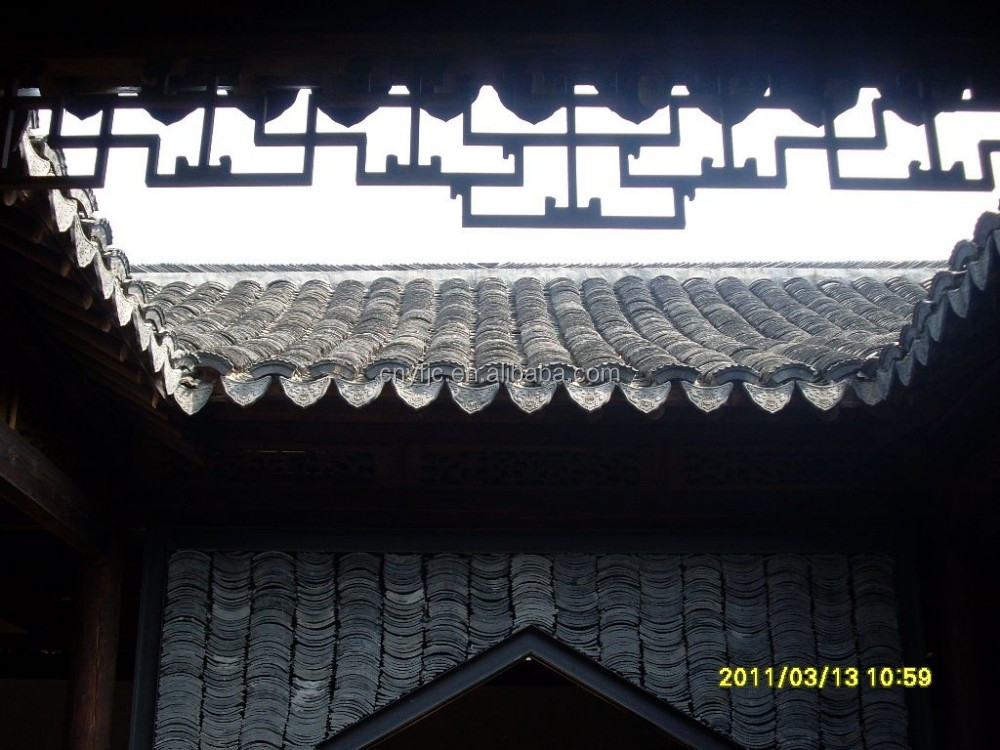 IVON Chinese architecture ancient style gray roof tiles Garden pavilion tiles