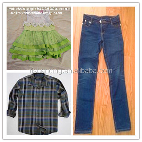 used clothing lots/2018 year fashion used clothes/used clothing / shirt,jeans for exporting