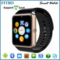 Best !! 1.54inch mini watch cell phone GT08 mini smart watch for iphone samsung android phone