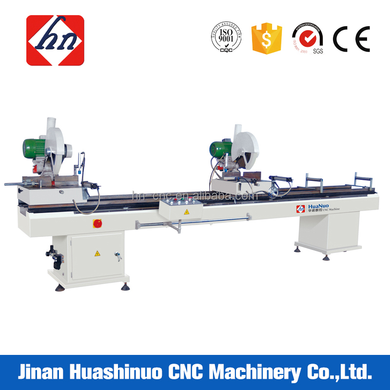 Double Head UPVC PVC Doors And Windows Making Cutting Saw Machine