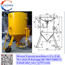 used sand blasting machine with high pressure spray gun