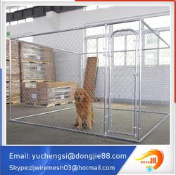 5 Hx10 Wx6D galvanized dog Kennel dog run dog fence panel with cover cloth