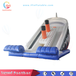 Commercial Inflatable Titanic Slide Dry Slide