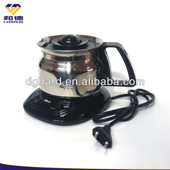 Electric coffee pot with heater