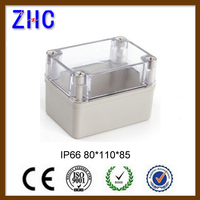 80*110*85 IP66 Plastic Enclosure Clear Cover ABS Open-Close Type Waterproof Switch Box