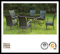 AWRF5163B stackable outdoor rattan dining set hotel cane furniture in south africa