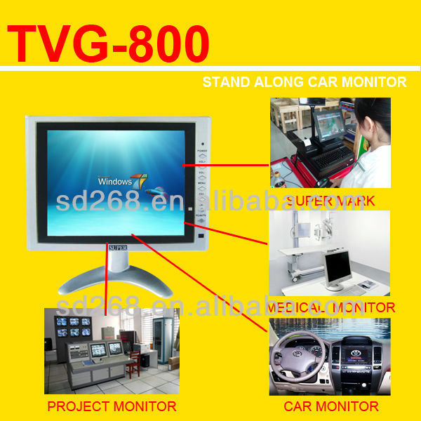 Engineering lcd set 8'' monitor vga,tv