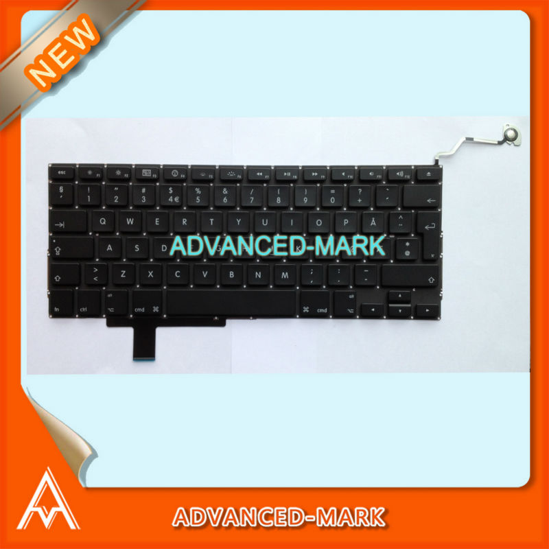 "New ! Keyboard for MacBook Pro Unibody 17"" A1297 Laptop , Norse Norsk Norwegian Norway Layout ."