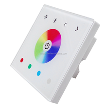 LED Touch Panel Controller 86mm Wall switch Touch Panel switch DC12V-24V for RGB,Color Temperature,Dimmer Control