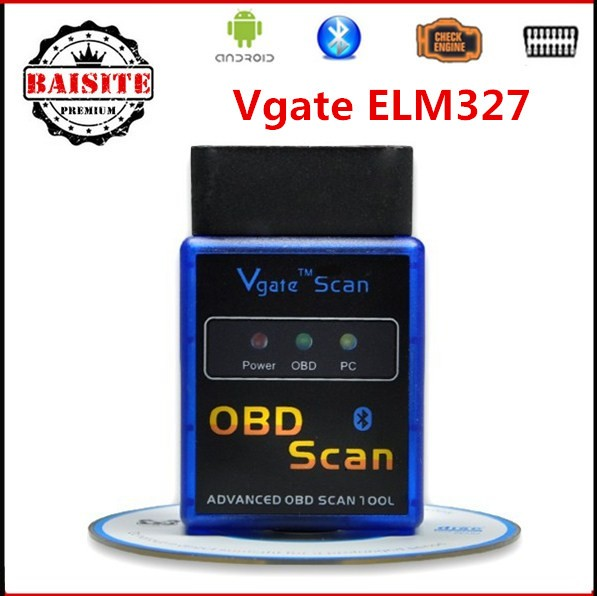 ELM327 Vgate bluetooth elm 327 Vgate Scan Advanced OBD2 OBDII car diagnostic tool with best price