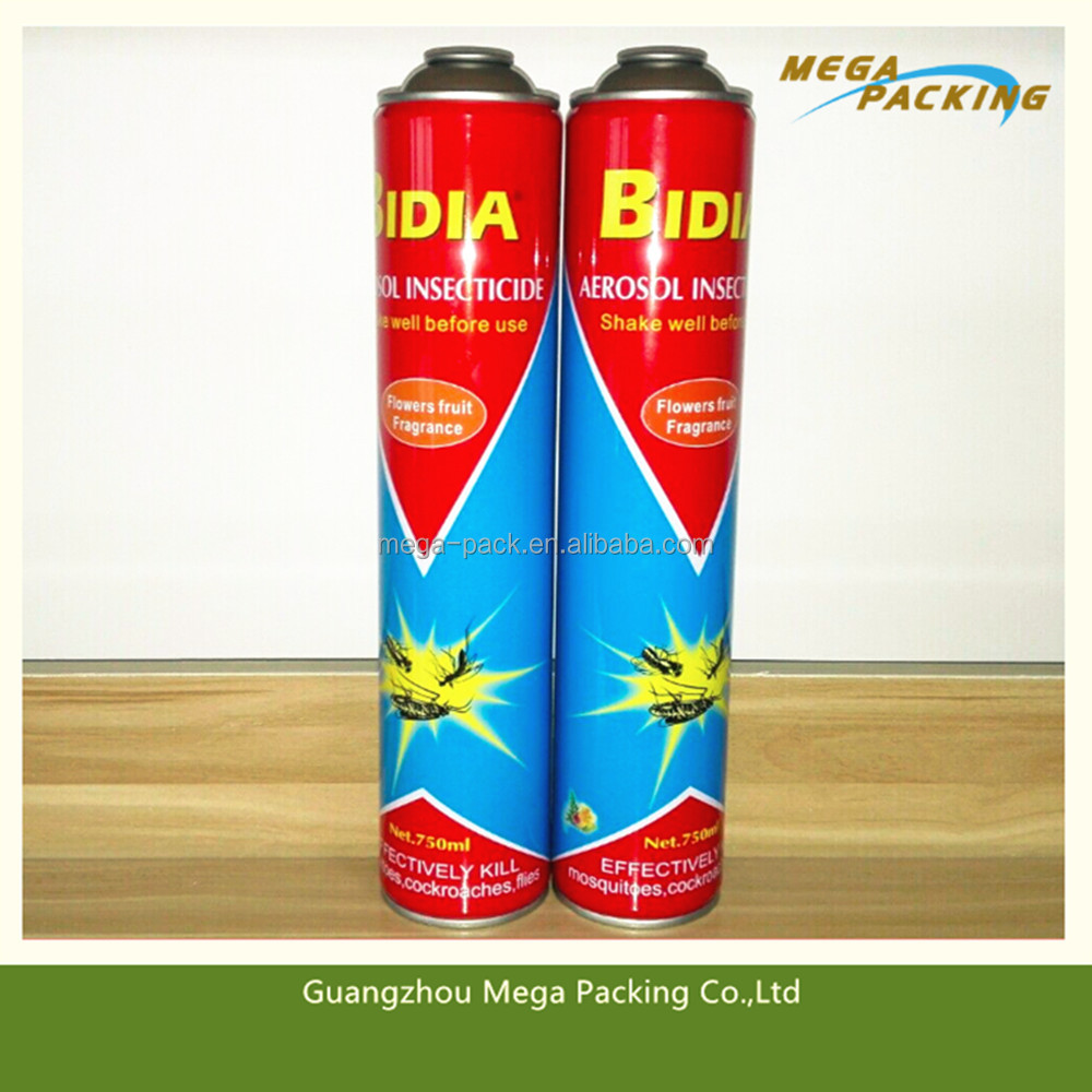 750ml Aerosol insecticide Insect Killer spray can with flowers fruit fragrance