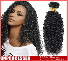China Supplier 100% Unprocessed Unwefted Virgin bulk hair extension for braiding curly