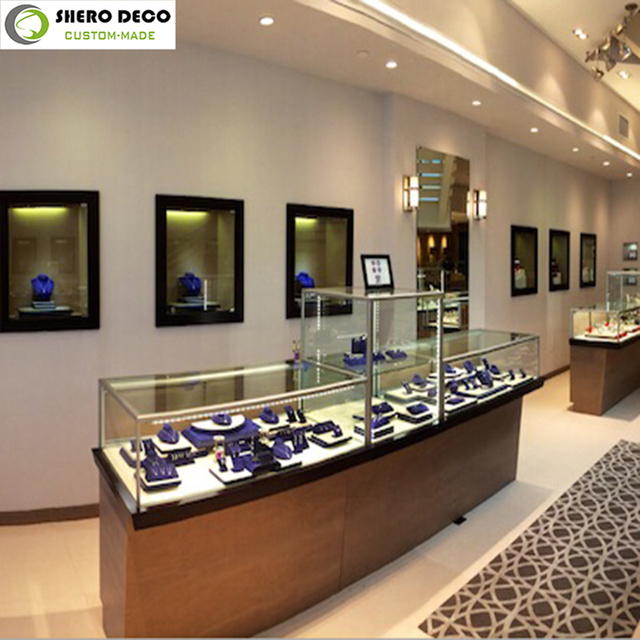 Hot Selling Luxury High End Display Showcase For Interior Design Ideas Jewellery Shops