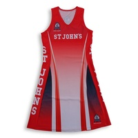 sports apparel, custom made sublimation printing netball dress uniform