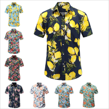 Factory Supplier Custom Fancy Island Hawaiian Printed Floral Shirts Men