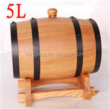 Several size alternative wooden whiskey barrels for sale