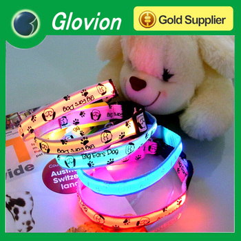 NEW light up led cat collar led flashing dog collar for christmas waterproof led dog collar