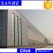 Small structural steel industrial warehouse project design