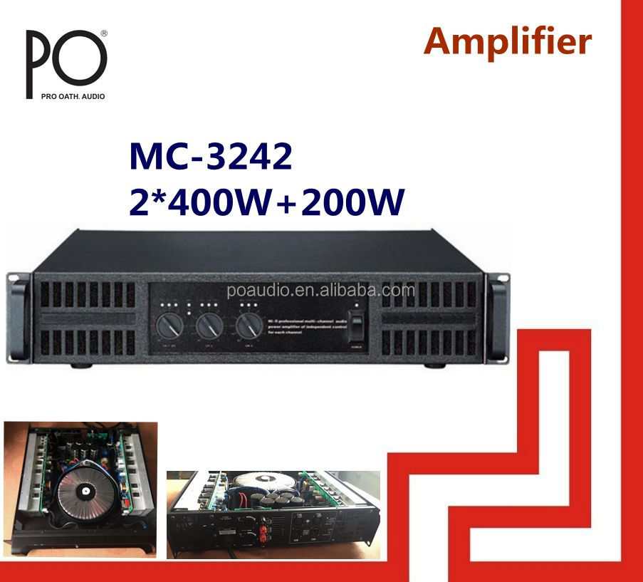 mc-3242 po audio professional 2.1 multi channel amplifier