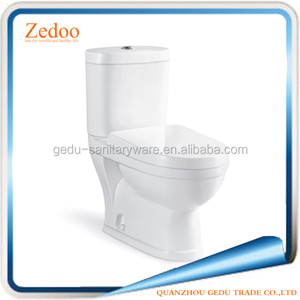 ZD-8026 Sanitary Ware Two Piece S-Trap washdown Toilet