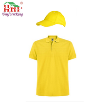 custom different color polo shirt uniform with cap