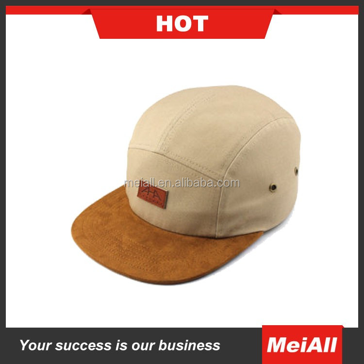 2016 custom design your own 5 panel hat cap/leather pacth logo customized snapback cap