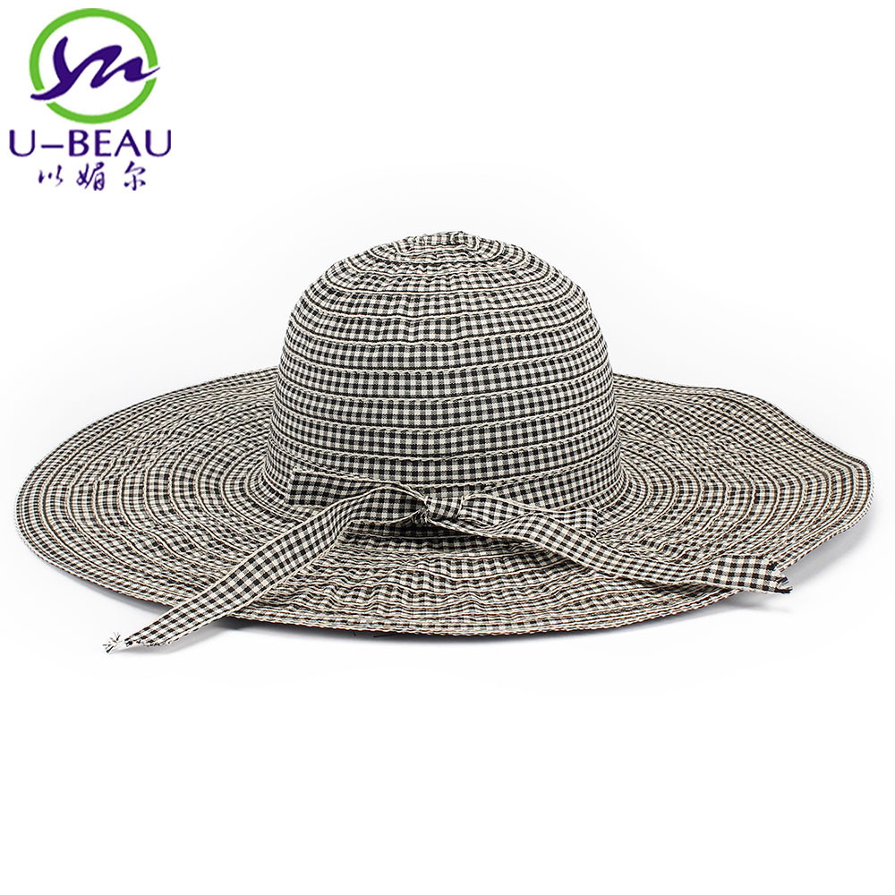 Colorful Women Summer Cotton Wide Brim Straw Hat