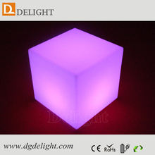 led cube light solar light/ led cube seat lighting/ 50cm 3d led cube for wedding decoration